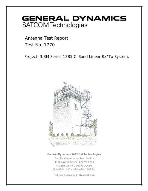 Series 1385 C-band Rx/Tx linear - General Dynamics SATCOM