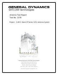 Series 1251 C-band circular - General Dynamics SATCOM ...
