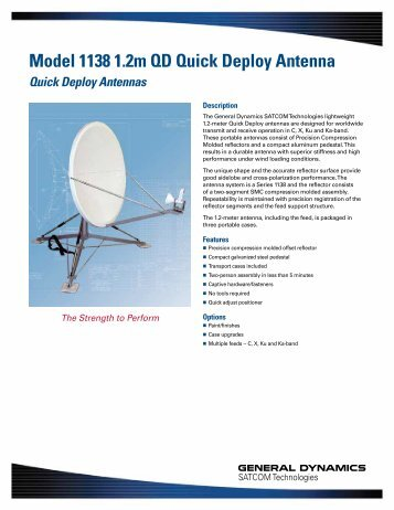 Model 1138 1.2m QD Quick Deploy Antenna - General Dynamics ...