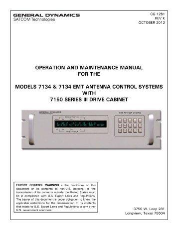 O&M Manual - General Dynamics SATCOM Technologies