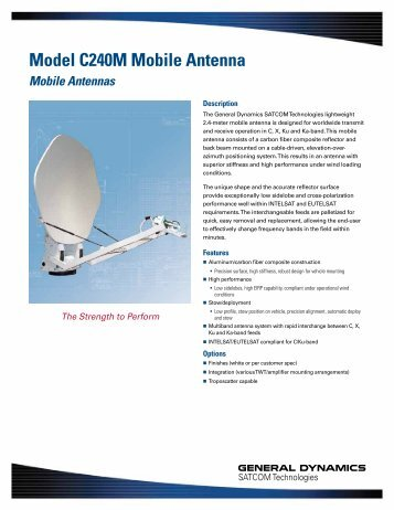 Model C240M Mobile Antenna - General Dynamics SATCOM ...