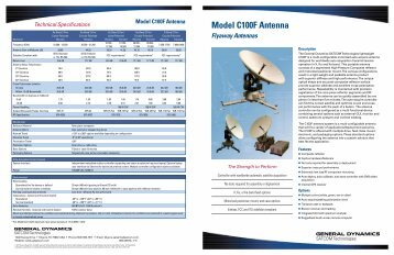 Model C100F Antenna - General Dynamics SATCOM Technologies