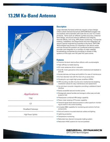 13.2M Ka-Band Antenna - General Dynamics SATCOM Technologies