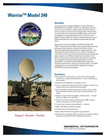 WarriorTM Model 240 - General Dynamics SATCOM Technologies