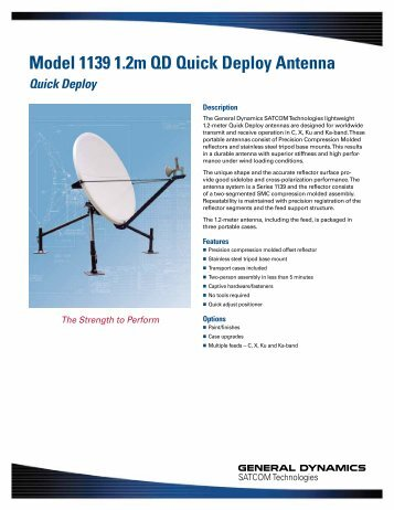 Model 1139 1.2m QD Quick Deploy Antenna - General Dynamics ...