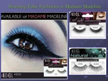 Stunning False Eyelashes at Madame Madeline