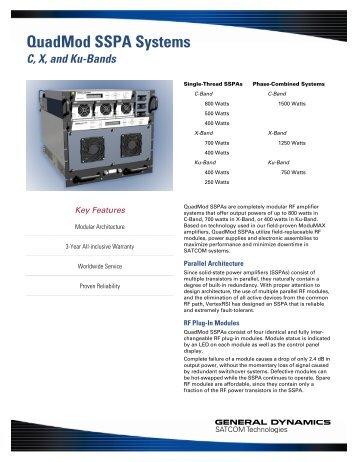 QuadMod SSPA Systems - General Dynamics SATCOM Technologies