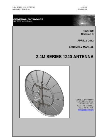 2.4M SERIES 1240 ANTENNA - General Dynamics SATCOM ...