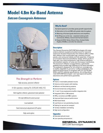 Model 4.8m Ka-Band Antenna - General Dynamics SATCOM ...