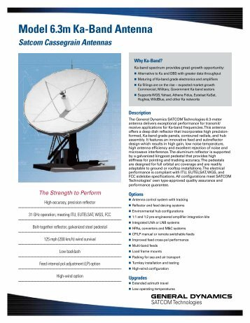 Model 6.3m Ka-Band Antenna - General Dynamics SATCOM ...