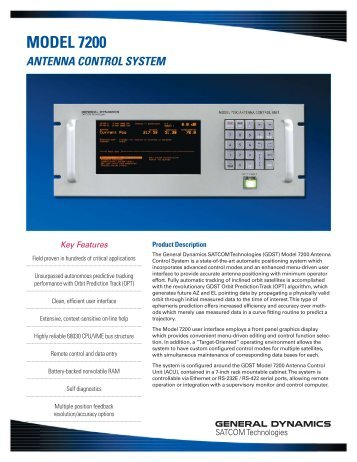 Antenna Control System - General Dynamics SATCOM Technologies