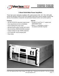 C-Band Solid-State Power Amplifiers PCD6S050R, PCD6S100R ...