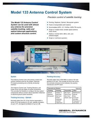 Model 133 Antenna Control System - General Dynamics SATCOM ...