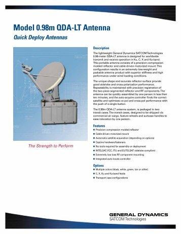 Model 0.98m QDA-LT Antenna - General Dynamics SATCOM ...