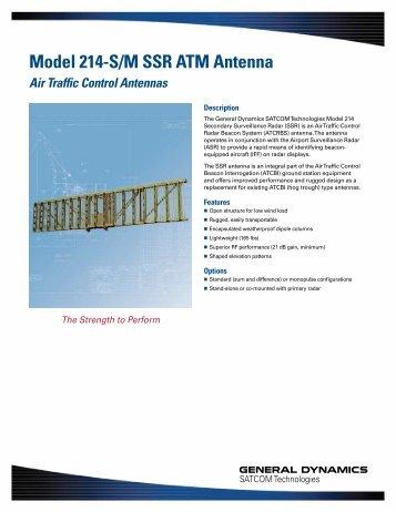 Model 214-S/M SSR ATM Antenna - General Dynamics SATCOM ...