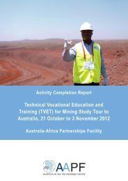 Technical Vocational Education and Training (TVET) for Mining ...