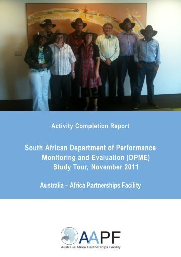 Activity Completion Report - Australia-Africa Partnerships Facility