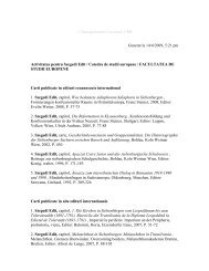 Sinteza szegedi Edit - Facultatea de Studii Europene