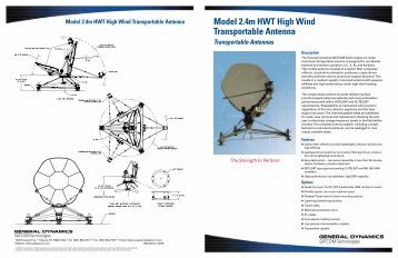 Model 2.4m HWT High Wind Transportable Antenna - General ...
