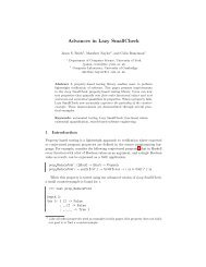 Advances in Lazy SmallCheck - Large Scale Complex IT Systems