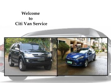 Getting an airport car service in Cebu from City Van Service