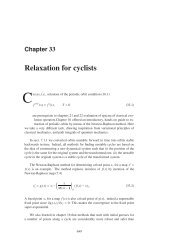 Chapter 29 - Relaxation for cyclists - ChaosBook