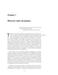 Chapter 3 Discrete time dynamics - ChaosBook.org
