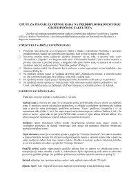 Upute za pisanje zavrąnog rada na preddiplomskom studiju (PDF)