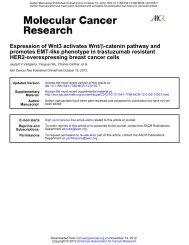 HER2-overexpressing breast cancer cells promotes EMT-like ...