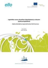 Logistiikka osana alueellista kilpailukykyä ja yritysten ... - ELLO