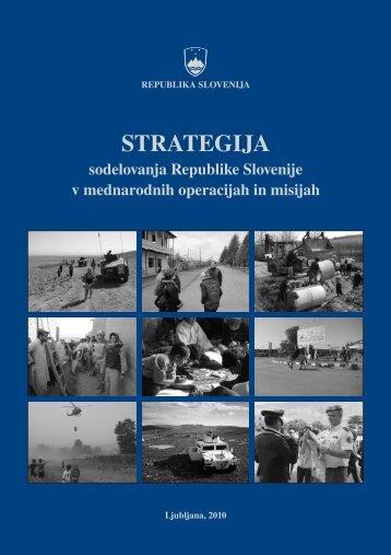 Strategija sodelovanja RS v MOM - Ministrstvo za obrambo