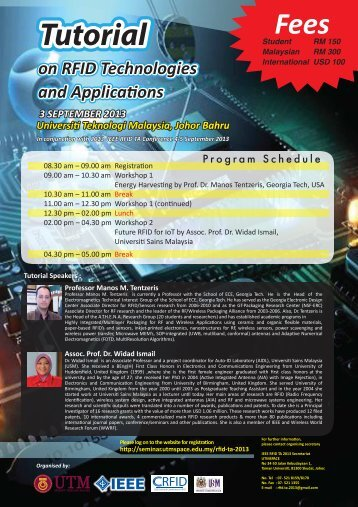 Universiti Teknologi Malaysia, Johor Bahru 3 SEPTEMBER 2013 ...