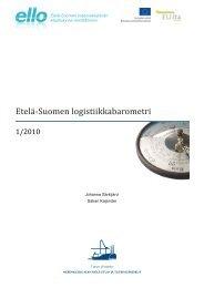 Logistiikkabarometri 1/2010 - ELLO