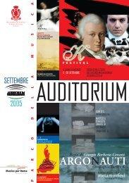 ARGONAUTI - Auditorium Parco della Musica