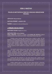 prijedlog metodičkog pristupa odgojno-obrazovnom procesu