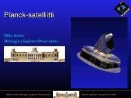 Planck satelliitti - Helsinki.fi