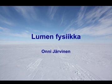 Lumen fysiikka Onni Järvinen