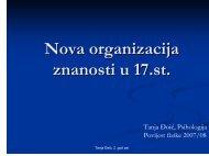 Nova organizacija znanosti u 17.st.
