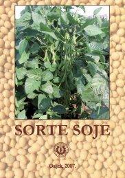 SORTE SOJE - Poljoprivredni institut Osijek