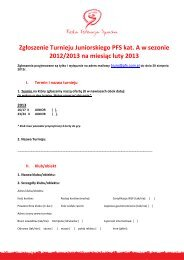 Formularz zgloszeniowy turnieju juniorskiego kat. A na sezon 2012 ...