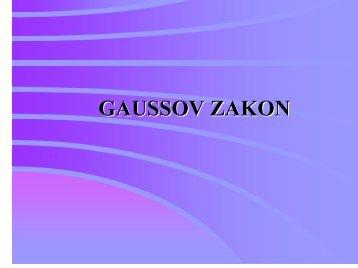 GAUSSOV ZAKON