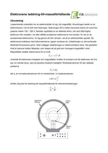 Elektronens laddning-till-massaförhållande
