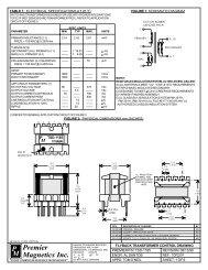 TSD-1185 - Premier Magnetics