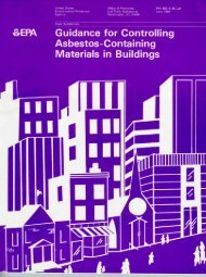 EPA 560/5-85-024 Guidance for Controlling Asbestos-Containing ...