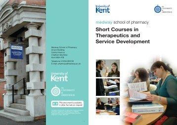 Short Courses in Therapeutics and Service Development