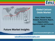 Calcium Oxide Market - Global Industry Analysis and Opportunity Assessment 2015 - 2025: Future Market Insights