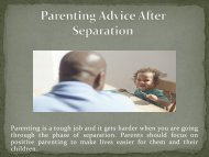 Parenting Advice After Separation