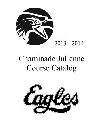 Course Catalog 2013-14 - Chaminade Julienne Catholic High School