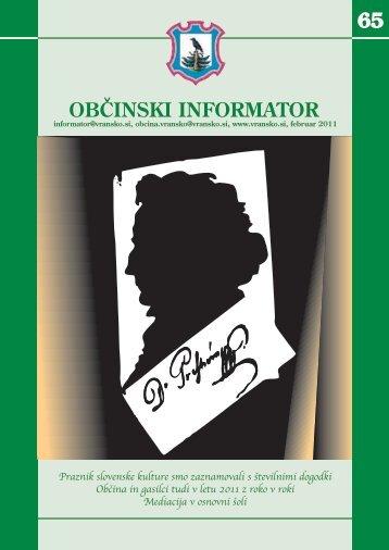 Obcinski informator st. 65 - Občina Vransko
