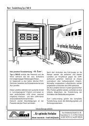 Torabdichtung Typ L-TAD-D - Nani Verladetechnik GmbH & Co. KG